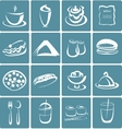 set flat design icons for restaurant food vector image