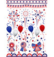set of american flag decoration clip art vector image