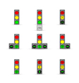set of Traffic lights vector image vector image
