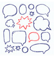 set picture blank template comic text speech chat vector image vector image