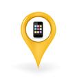 Smartphone Location vector image vector image