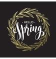 Spring handwritten calligraphy vector image vector image