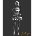 Stylized fashion model figure vector image vector image
