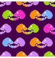 Terrible frightening seamless pattern with skull vector image