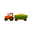 tractor harvester agricultural vector image