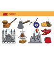 turkey travel destination promotional poster with vector image