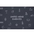 United Arab Emirates Thin Line Icons vector image