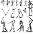 vintage golf set vector image
