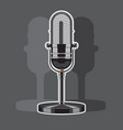 vintage metal studio microphone isolated on vector image