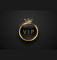 vip black label with round golden ring frame vector image vector image