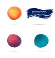 watercolor spots for design elements vector image vector image