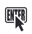 web enter icon vector image vector image