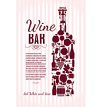 Wine menu background stock Card menu vector image
