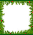 xmas frame isolated vector image vector image