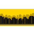 yellow city backdrop vector image vector image