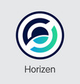 zen - horizen the icon of crypto coins or market vector image