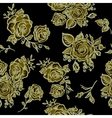 Art Deco floral seamless pattern with roses vector image