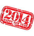 Grunge happy new 2014 year rubber stamp vector image