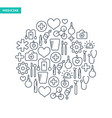 healthcare lined icons set vector image