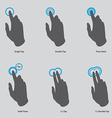 touch gesture icons vector image