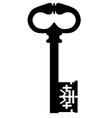 Black key vector image
