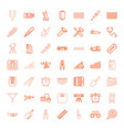 49 instrument icons vector image vector image