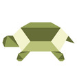 abstract low poly turtle icon vector image