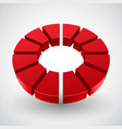 abstract red circle vector image vector image