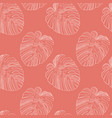 abstract tropical monstera leaf seamless pattern vector image