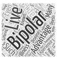 advantage bipolar Word Cloud Concept vector image vector image