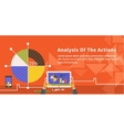 Analysis of Actions Infographic vector image vector image
