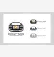 automotive car logo design editable logo design vector image vector image