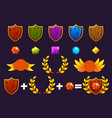 awards shield and gems set constructor to create vector image vector image