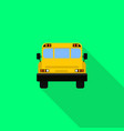 back of school bus icon flat style vector image vector image