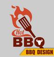 bbq hot logo image vector image vector image
