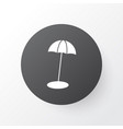 beach umbrella icon symbol premium quality vector image