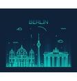Berlin skyline trendy linear vector image vector image