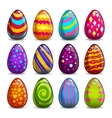 Big set with cartoon easter eggs vector image vector image