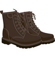 boots brown isolated on white vector image vector image