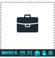 Briefcase icon flat vector image vector image