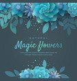 bright floral arrangement for the invitation vector image vector image