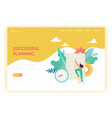 business planning and strategy landing page vector image vector image