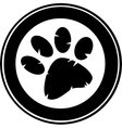 Cartoon paw print vector image vector image