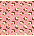 christmas seamless pattern with pudding and candy vector image