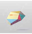 Colorful geometrical background with lines vector image vector image
