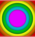 concentric circles lgbt rainbow flag gay colors vector image vector image