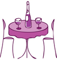 cute restaurant table vector image vector image