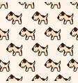 dalmatian seamless pattern vector image vector image