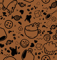 Endless coffee pattern vector image vector image