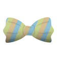 fashion striped bow tie icon cartoon style vector image